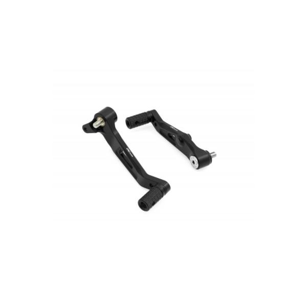 Adjustable aluminium and titanium rearsets for MV B4