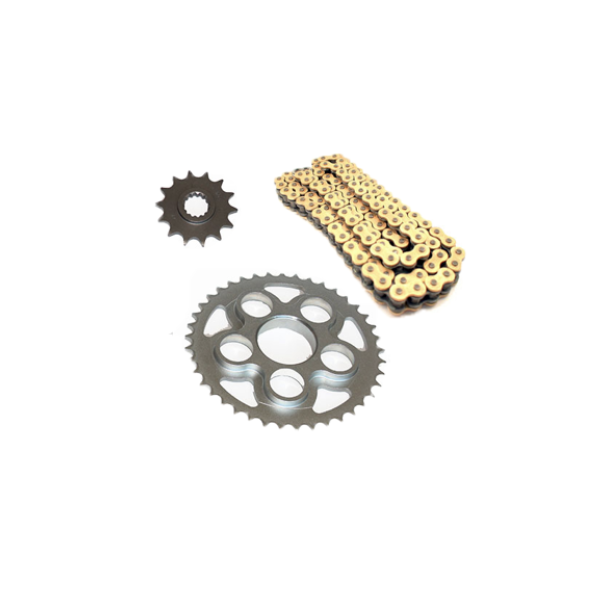 Chain, carrier and transmission kit for MV Agusta B3