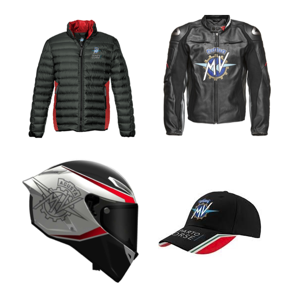 Appareal and accessories for MV Agusta